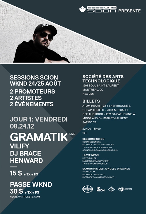 Gramatik live, Vilify, DJ Brace, Henward at SAT