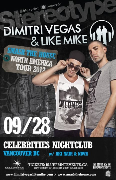 Dimitri Vegas + Like Mike at Celebrities Nightclub Vancouver