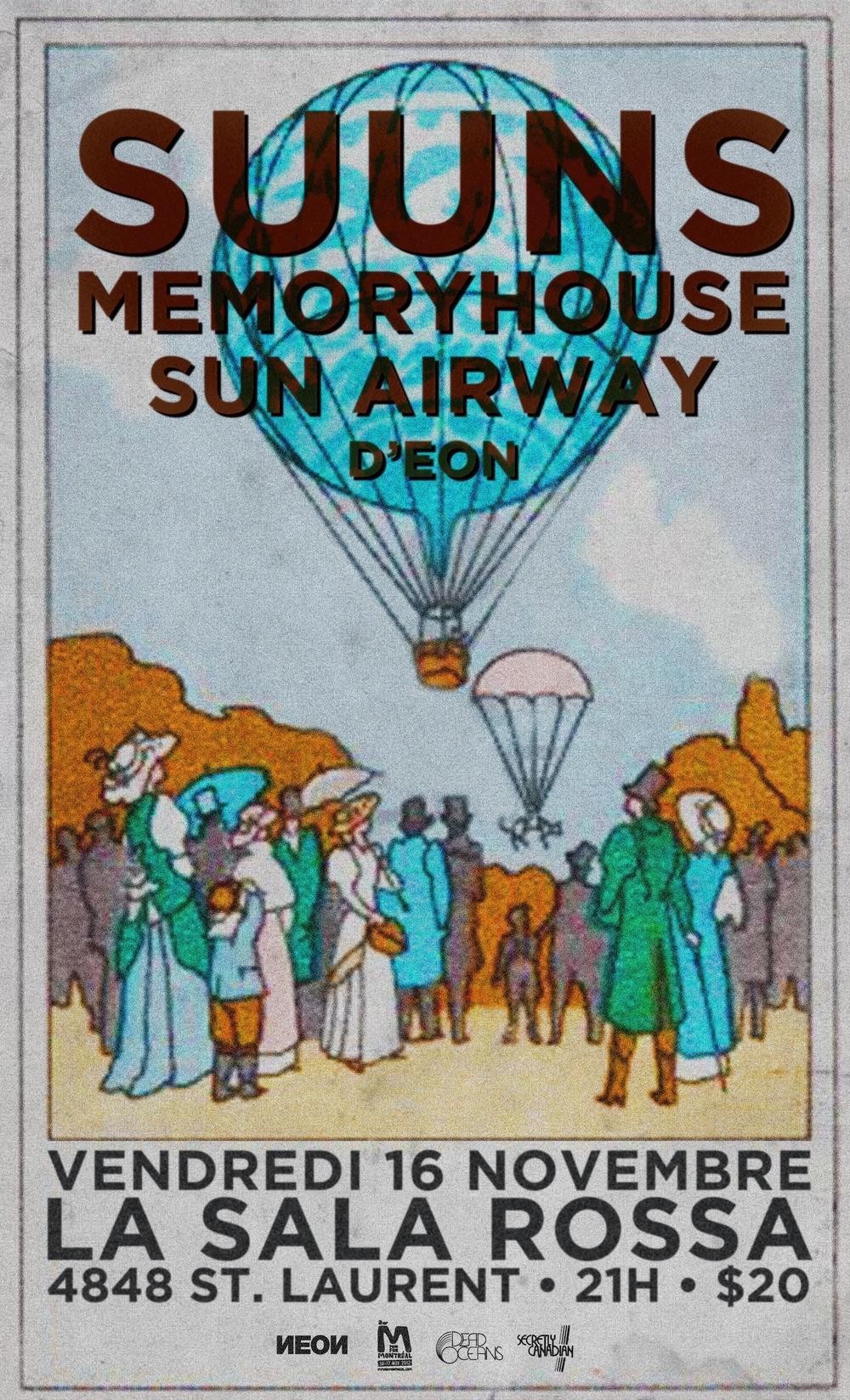 Suuns memoryhouse sun airway d'eon Montreal Sala rossa