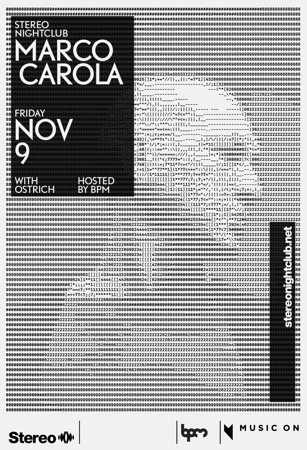 Marco Carola Ostrich Stereo Montreal