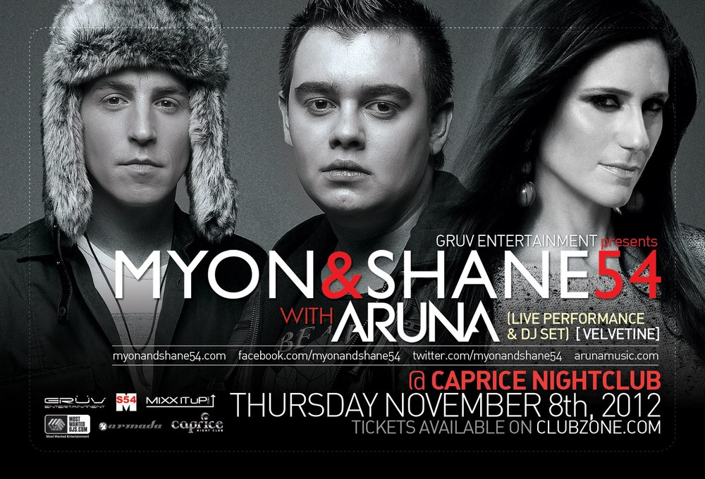 Myon & Shane 54 with Aruna ticket contest Caprice Vancouver