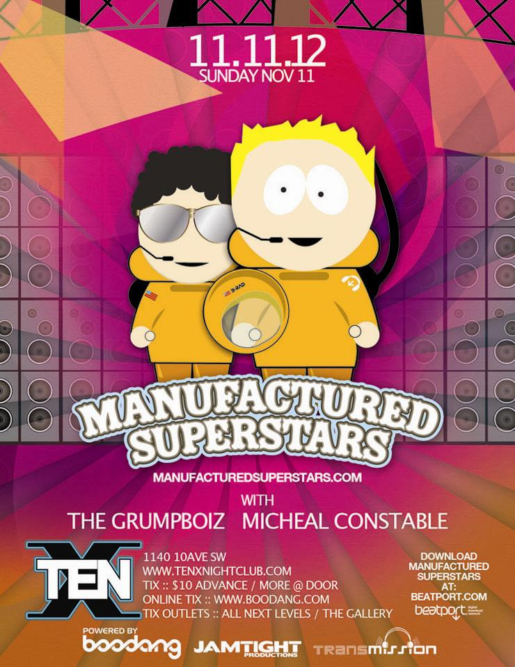Manufactured Superstars TEN nightclub Calgary