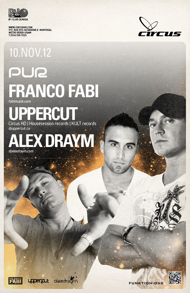 franco fabi uppercut alex draym circus afterhours montreal