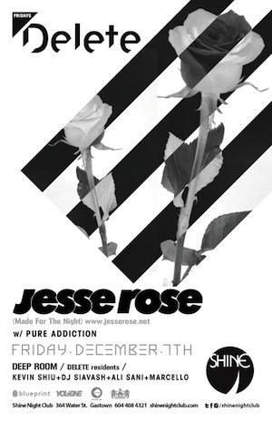 jesse rose shine nightclub vancouver