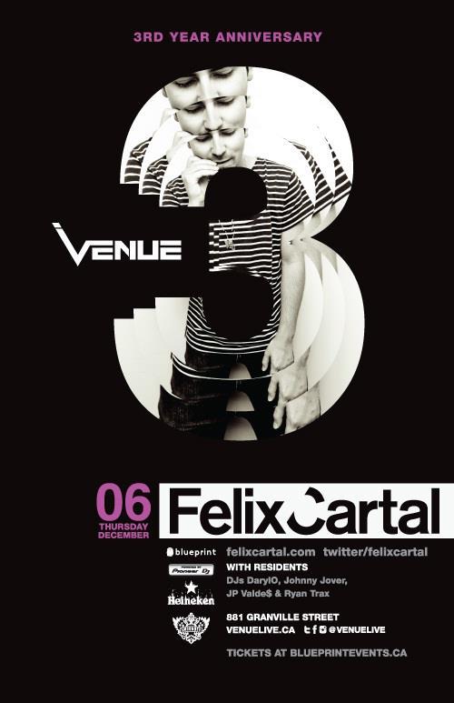 Felix Cartal venue vancouver
