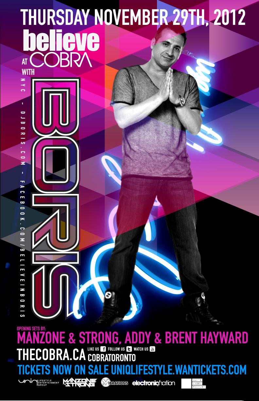 DJ Boris, Manzone & Strong, Addy & Brent Hayward cobra toronto