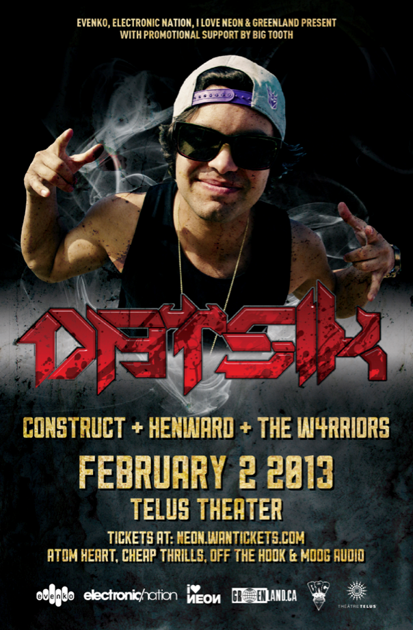 Datsik, Construct, Henward, The W4rriors telus theatre montreal