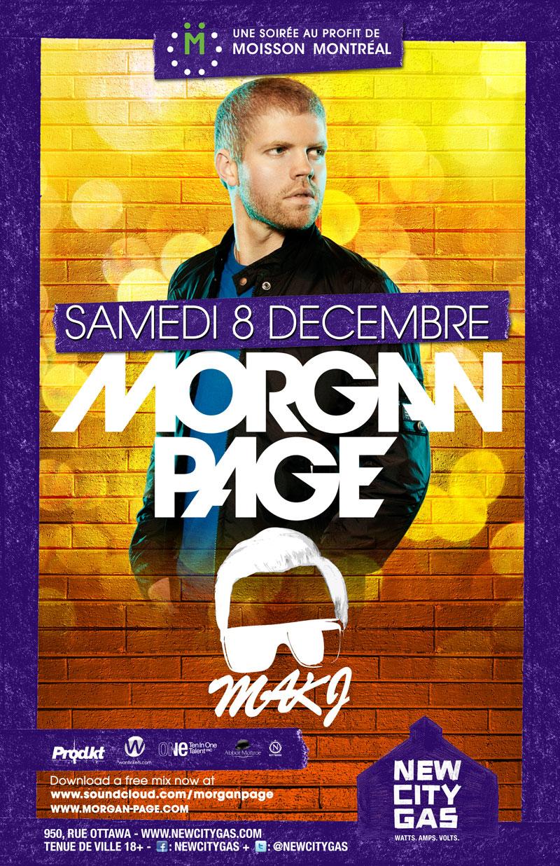 Morgan Page, MAKJ new city gas montreal