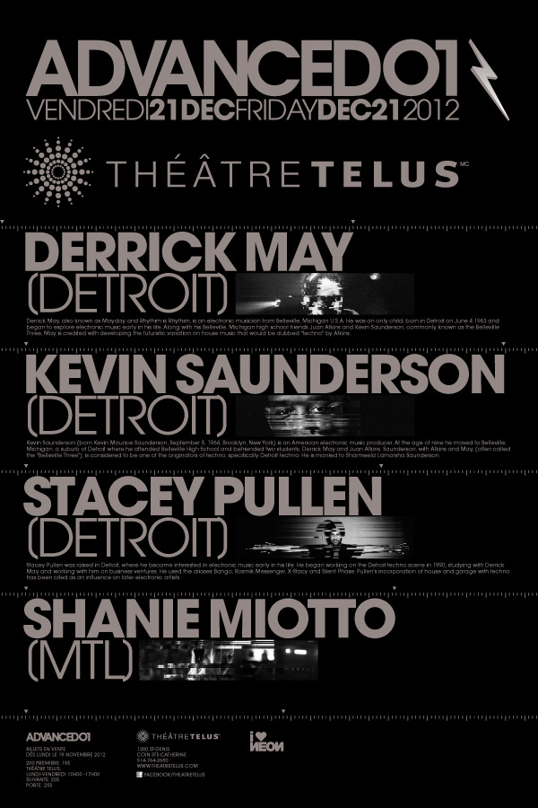 Derrick May, Kevin Saunderson, Stacey Pullen, Shanie Miotto telus theatre montreal