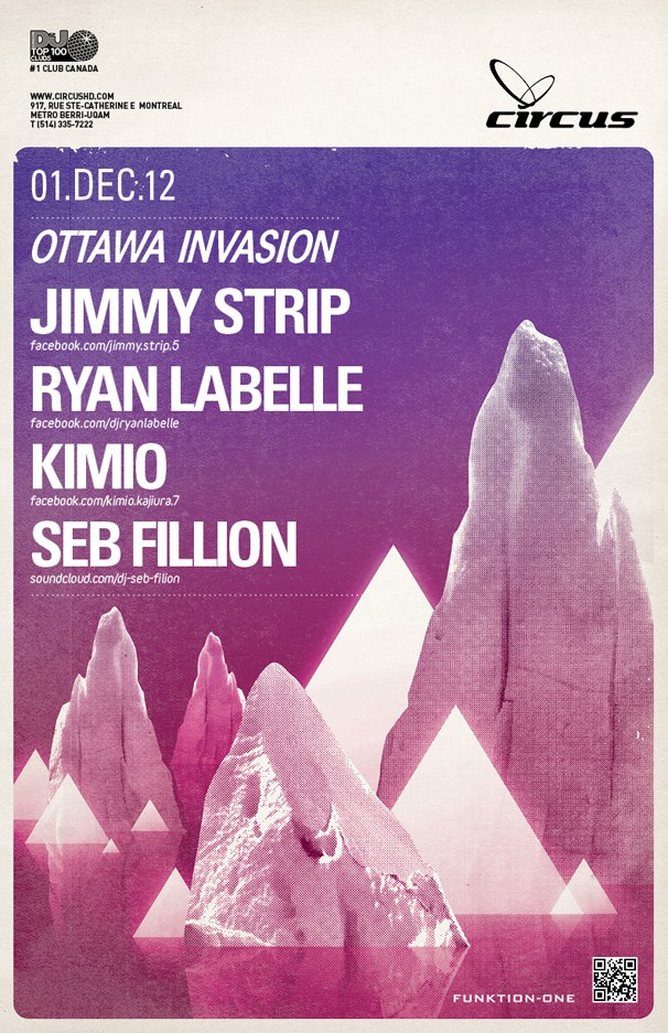 Jimmy Strip, Ryan Labelle, Kimio, Seb Fillion circus montreal