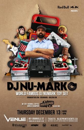 DJ NU-MARK venue vancouver