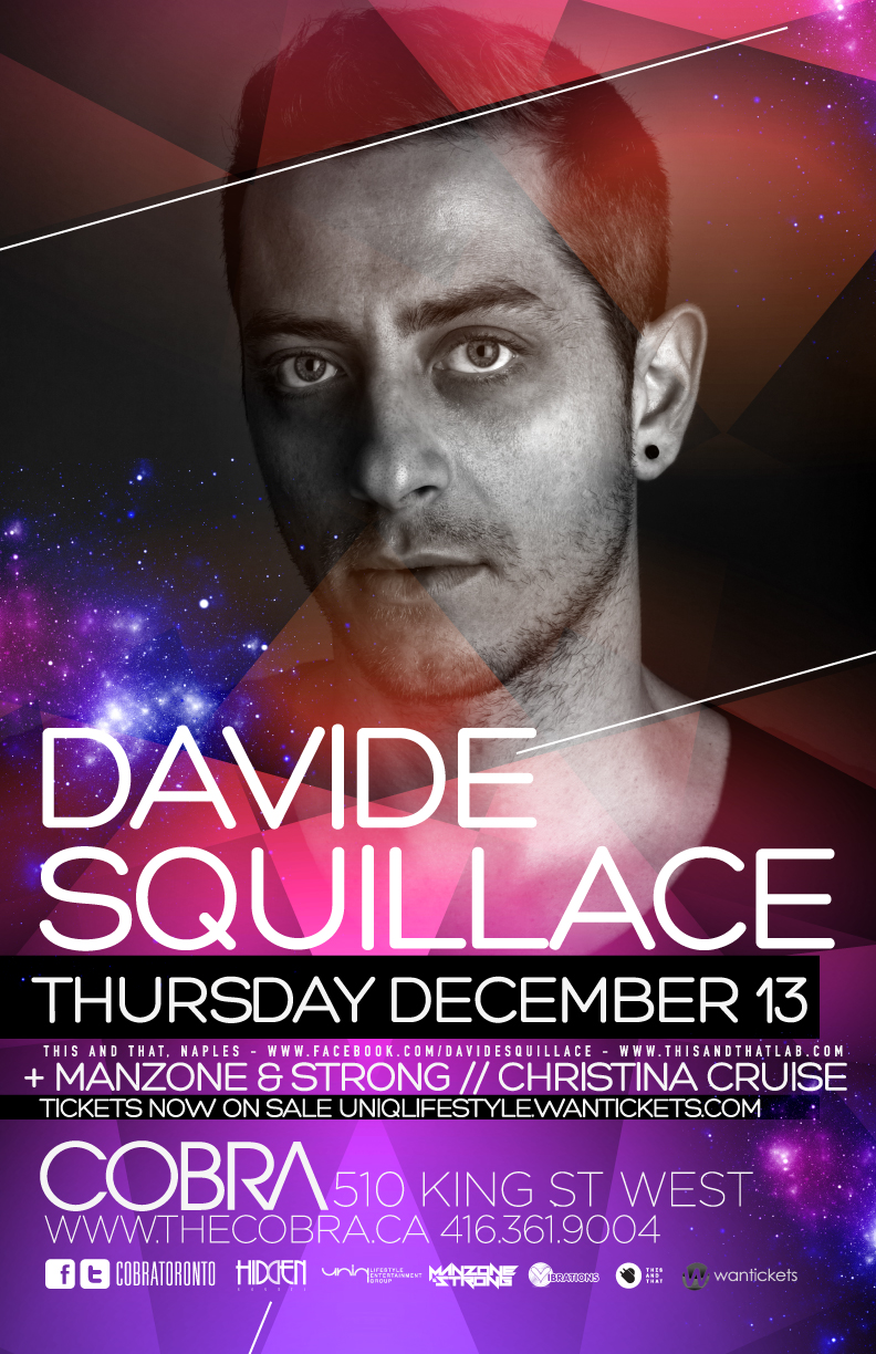 Davide Squillace, Manzone & Strong, Christina Cruise cobra toronto