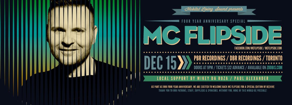 MC Flipside, Mikey Da Roza, Paul Alexander habitat living sound calgary
