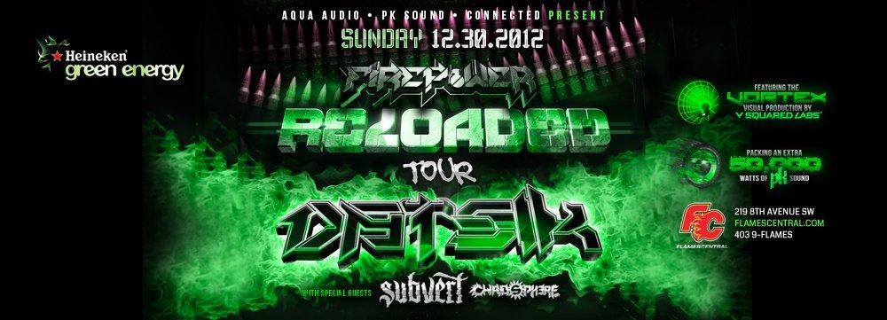 Datsik, Delta Heavy, Terravita, Bare Noize, Xkore flames central calgary