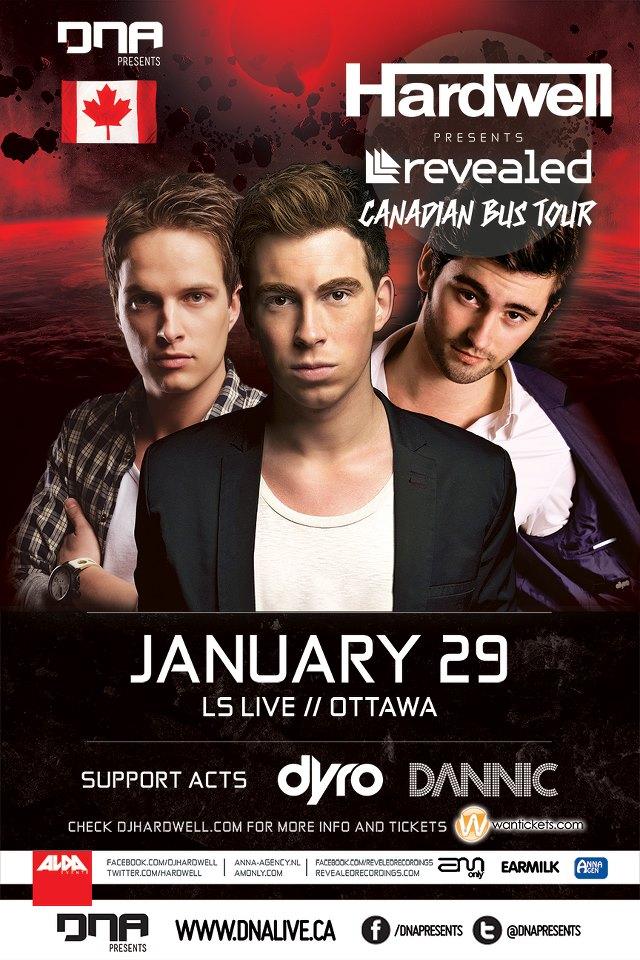 Hardwell, Dannic, Dyro LS Live Ottawa