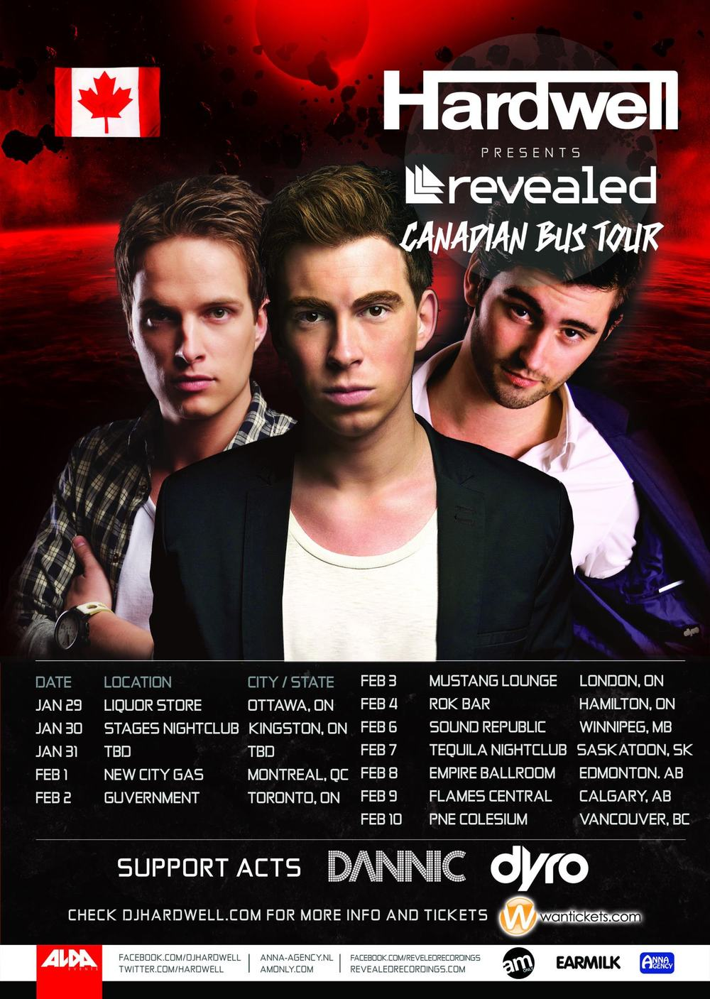 Hardwell, Dyro, Dannic winnipeg republic nightclub
