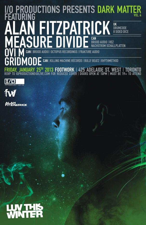 Alan Fitzpatrick, Measure Divide, Ovi M, Gridmode footwork toronto