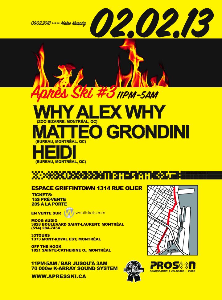 Why Alex Why, Matteo Grondini, Heidi montreal