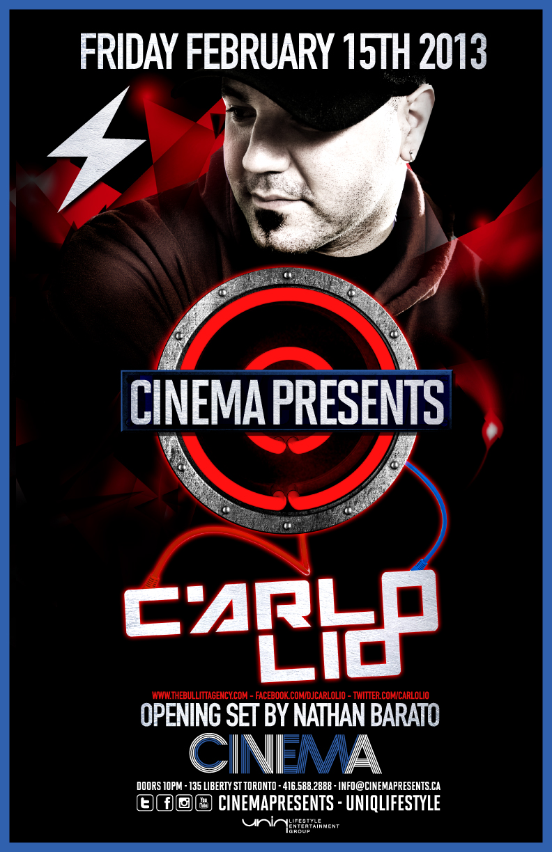 Carlo Lio, Nathan Barato Cinema Toronto