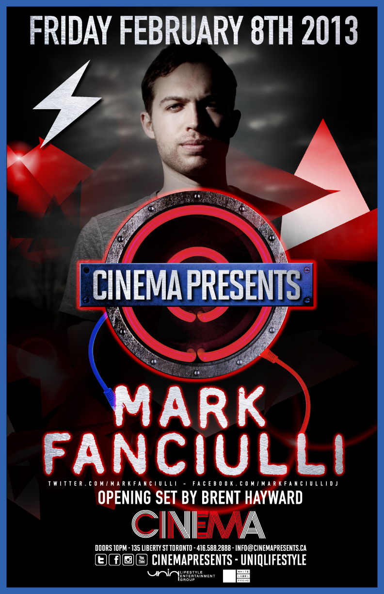 Mark Fanciulli, Brent Hayward cinema toronto