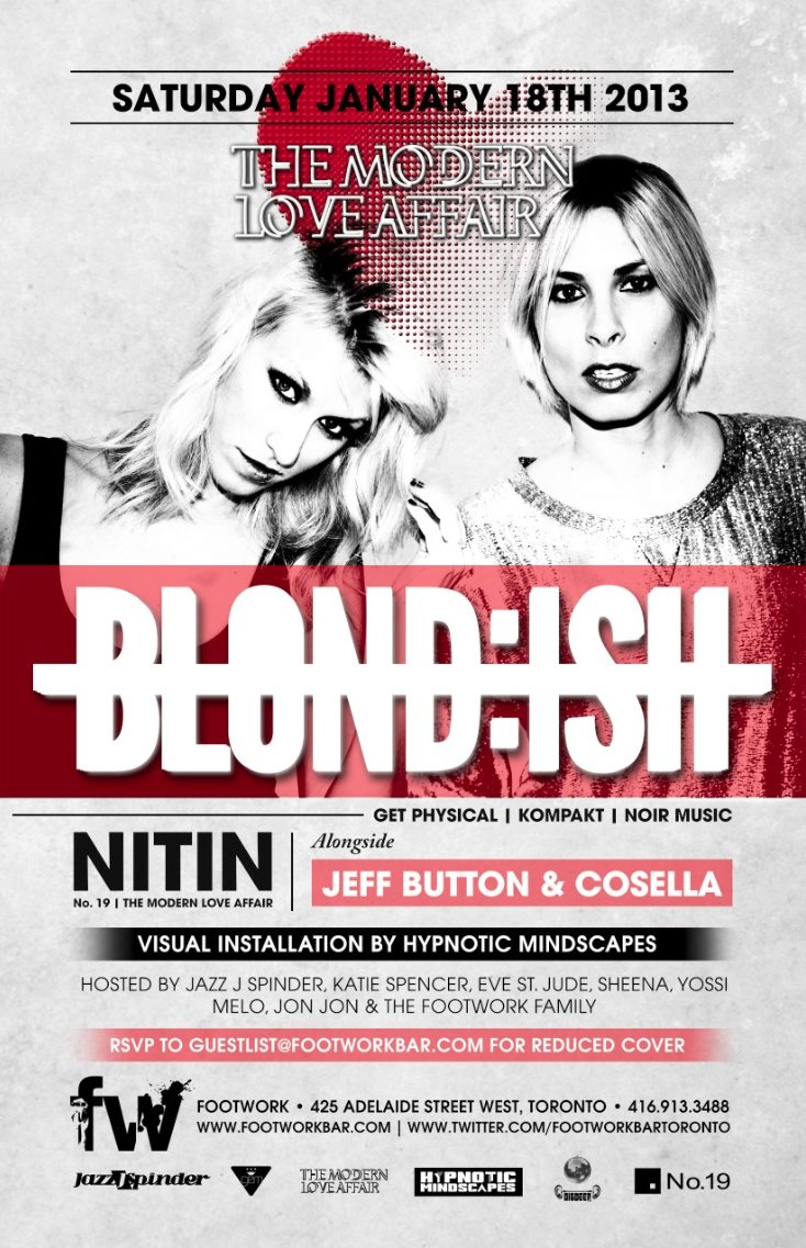 Blond:ish, Nitin, Jeff Button, Cosella footwork toronto