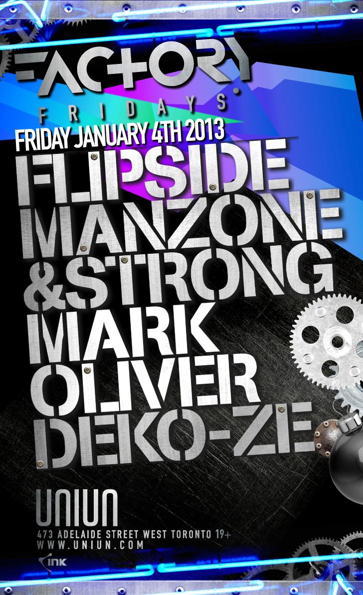Flipside, Manzone & Strong, Mark Oliver, Deko-Ze uniun
