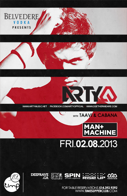 Arty, Taavi & Cabana time supper club montreal