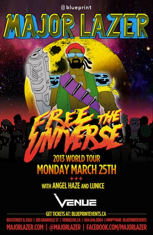 Major Lazer, Lunice, Angel Haze vancouver venue