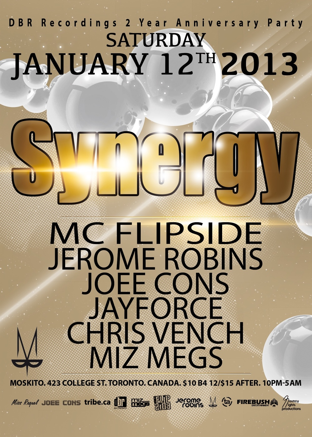 MC Flipside, Jerome Robins, Joee Cons, Jayforce, Chris Vench, Miz Megs Toronto Moskito