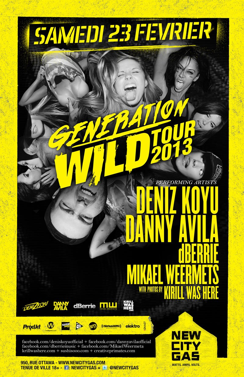 Deniz Koyu, Danny Avila, dBerrie, Mikael Weermets (photos by Kirill Was Here) new city gas montreal