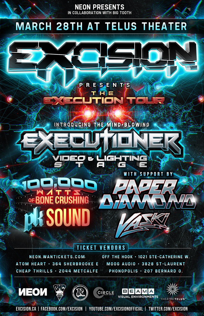 Excision, Paper Diamond, Vaski Telus Montreal