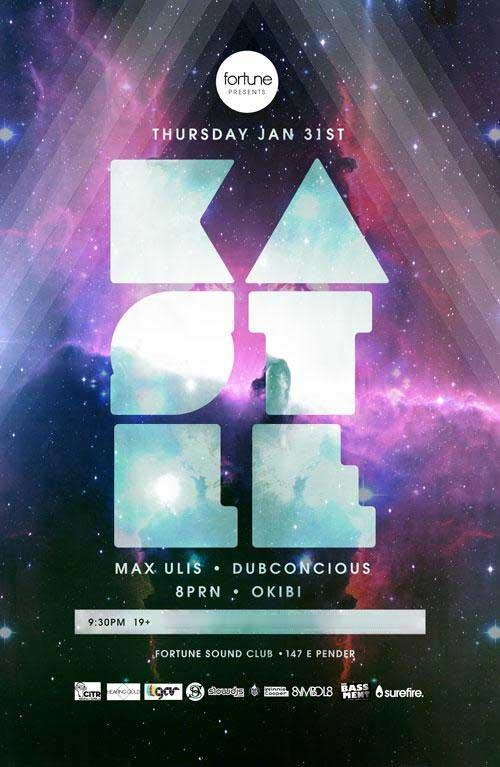 Kastle, Max Ulis, Dubconscious Vancouver Fortune Sound Club