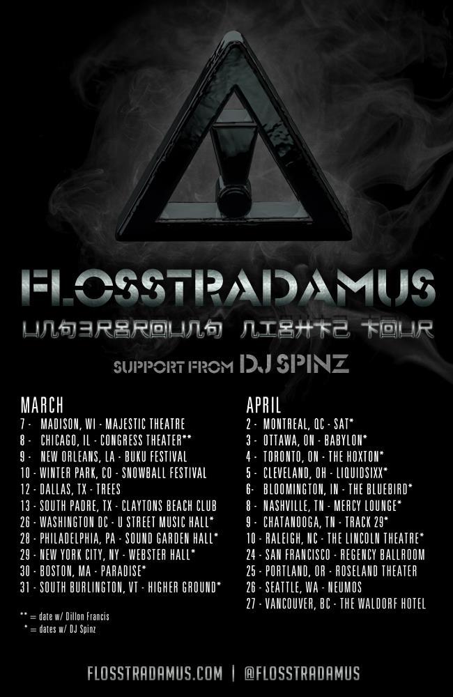 Flosstradamus, DJ Spinz SAT Montreal