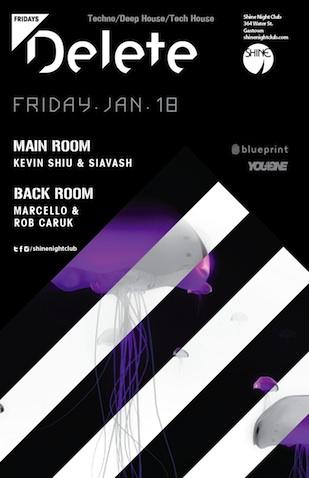Kevin Shiu, Siavash, Marcello, Rob Caruk Shine Nightclub Vancouver
