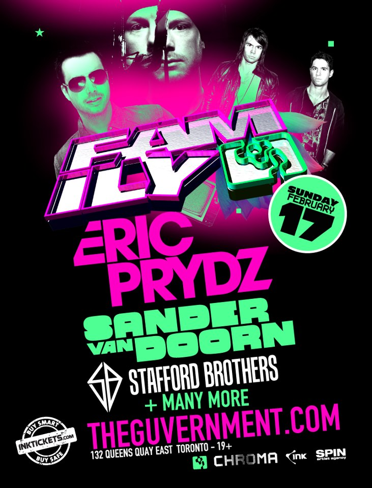 Eric Prydz, Sander Van Doorn, Stafford Brothers + More. Guvernment Toronto