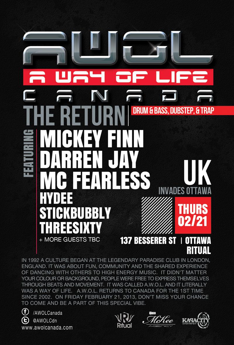 Mickey Finn, Darren Jay, MC Fearless, Hydee, Stickbubbly, Threesixty Ritual Ottawa