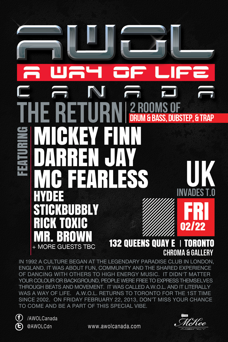 Mickey Finn, Darren Jay, MC Fearless, Hydee, Stickbubbly, Rick Toxic, Mr. Brown Chroma Toronto