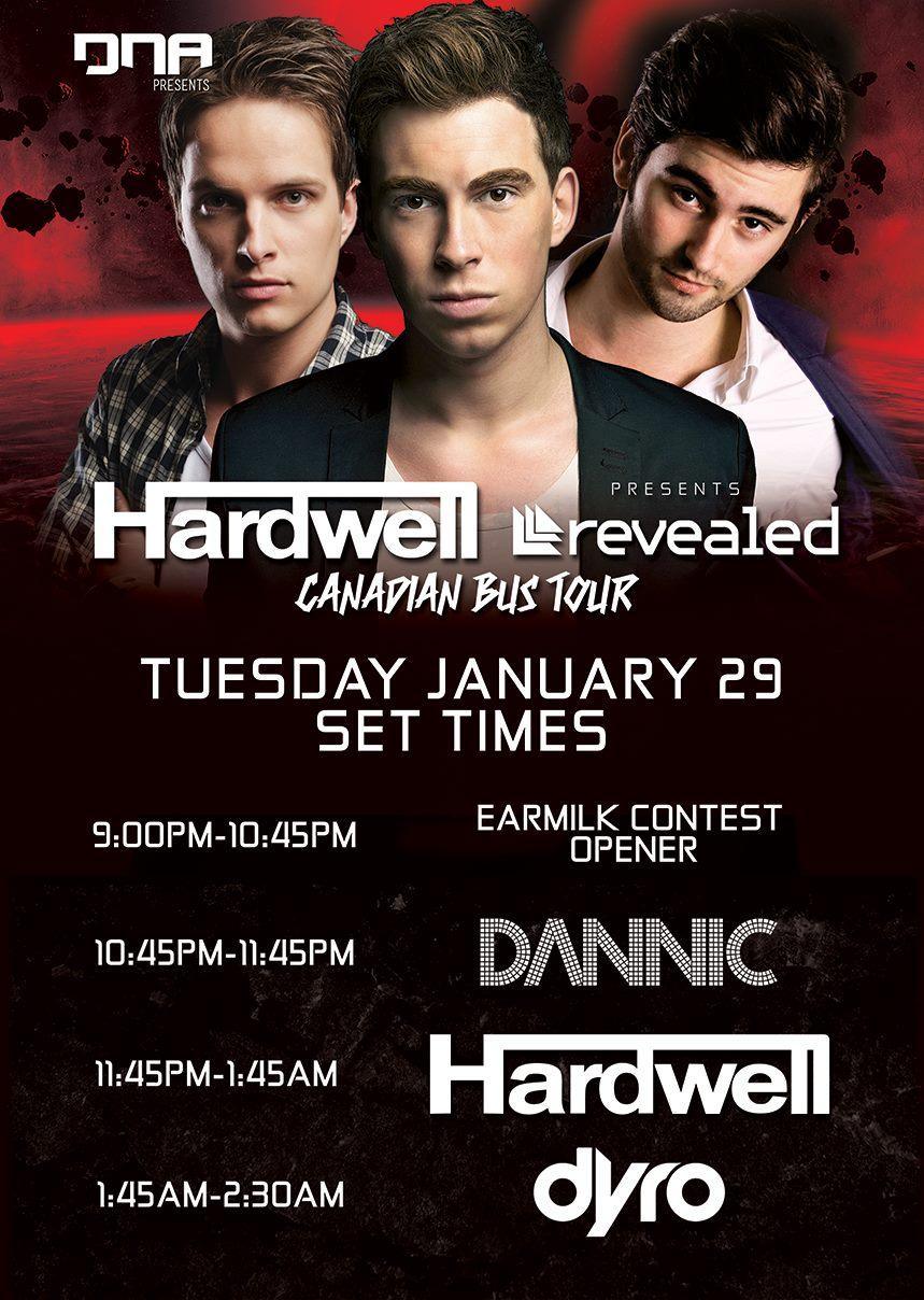 Hardwell Dannic Dyro Set Times at LS Live