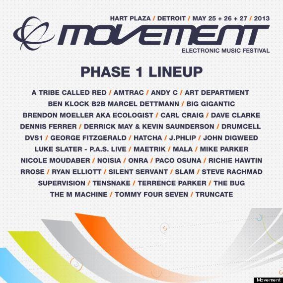 Movement Detroit Phase 1 Lineup