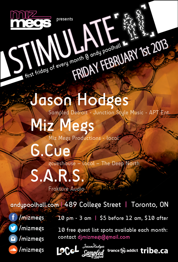 J  ason Hodges, Miz Megs, G.Cue, S.A.R.S Andy Poolhall Toronto