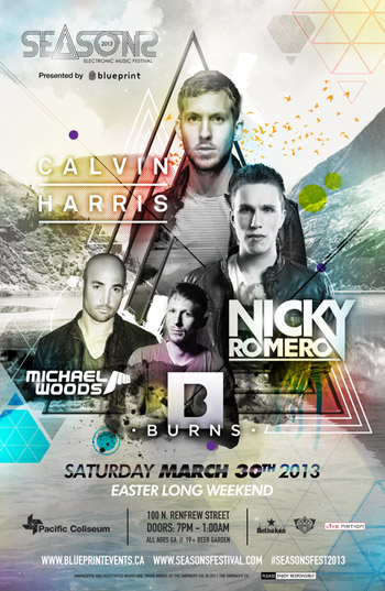 C  alvin Harris, Nicky Romero, Michael Woods + More Seasons Festival Vancouver