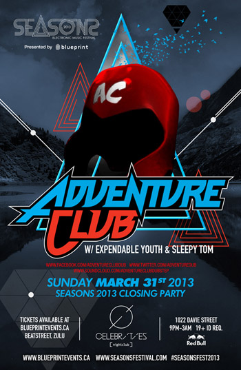 Seasons Closing Party w/ Adventure Club @ Celebrities Vancouver