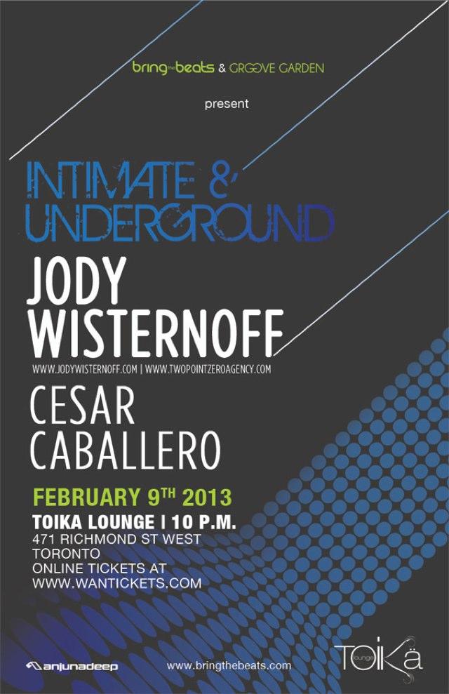 Jody Wisternoff & Cesar Caballero Toika Lounge Toronto