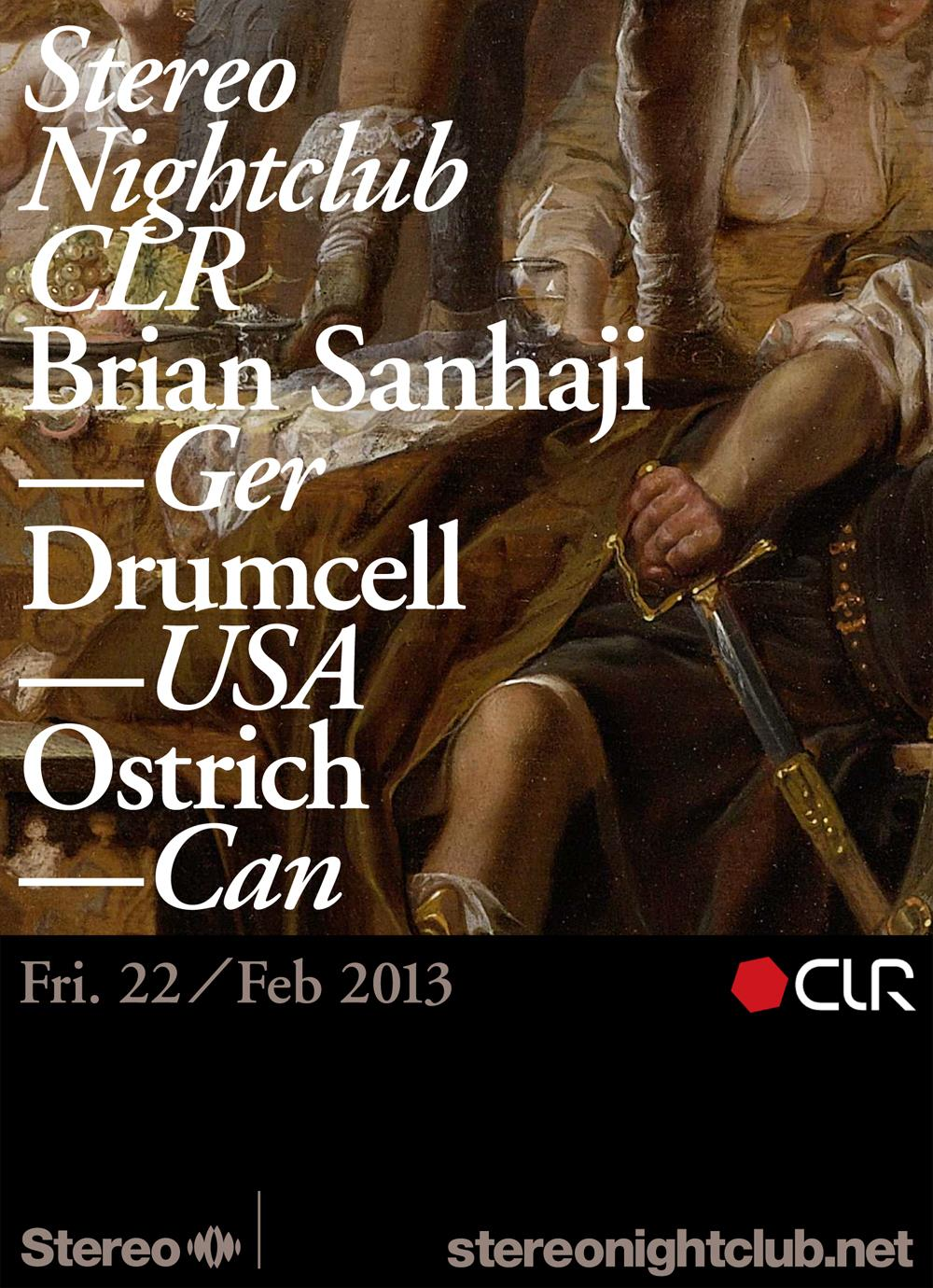 B  rian Sanhaji, Drumcell, Ostrich Stereo Montreal