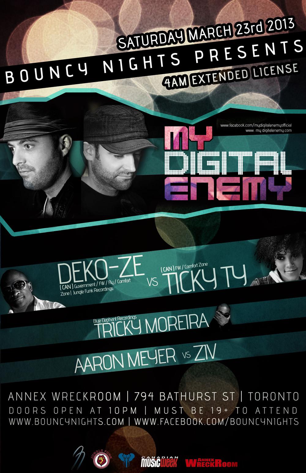 My Digial Enemy, Deko-Ze, Ticky Ty, Tricky Moreira, Aaron Meyer, Ziv Annex Wreckroom Toronto