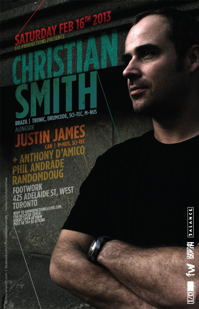 C  hristian Smith, Justin James, Anthony D'Amico, Phil Angrade, Randomdoug Footwork Toronto