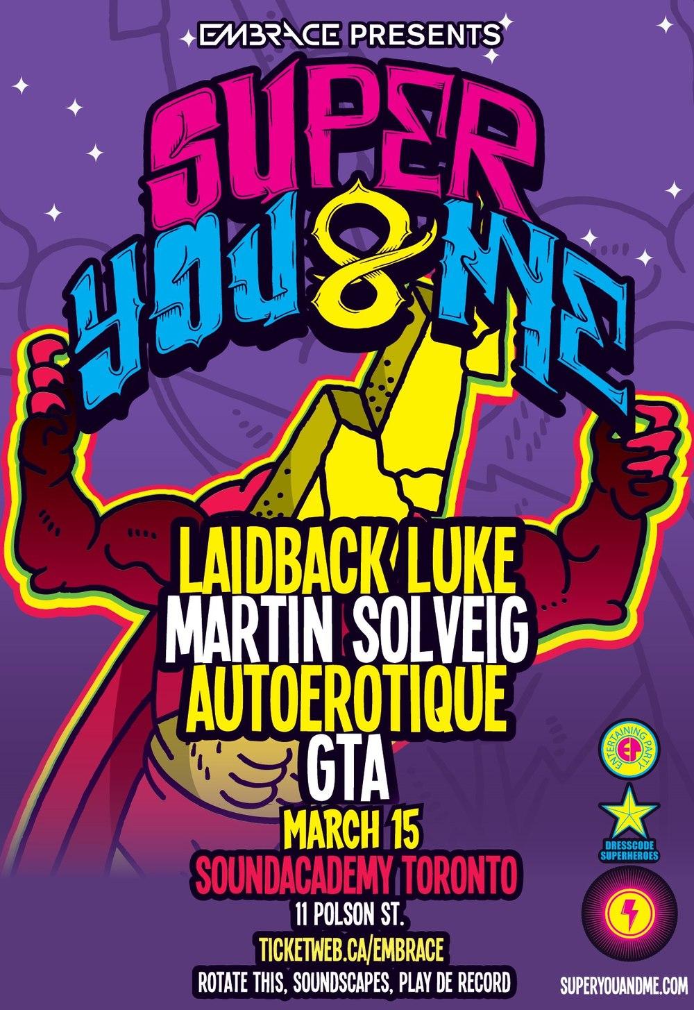 Laidback Luke, Martin Solveig, Autoerotique, GTA Sound Academy Toronto