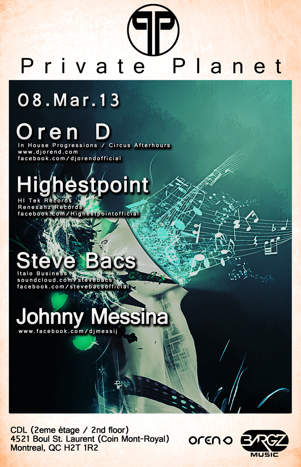 Oren D, Highestpoint, Steve Bacs, Johnny Messina CDL Montreal