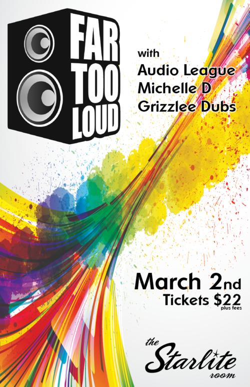 Audio League, Michelle D, Grizzlee Dubs The Starlite Room Edomonton