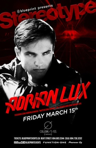 Adrian Lux Celebrities Nightclub Vancouver